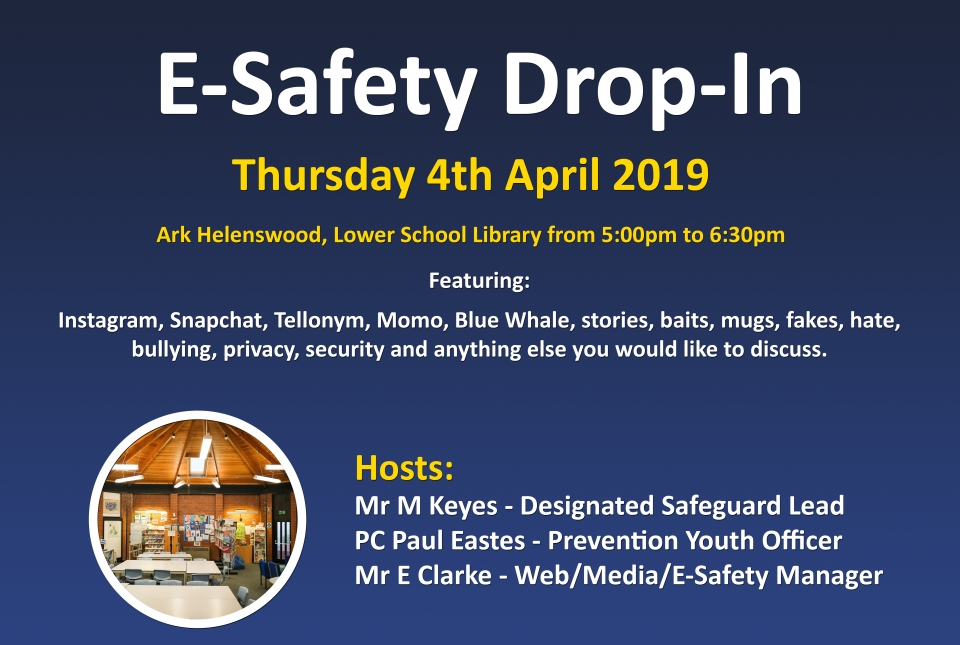 E-Safety Drop-In | Helenswood Academy