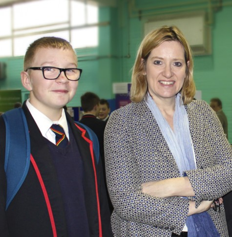 Hastings secondary school, careers fair, Amber Rudd
