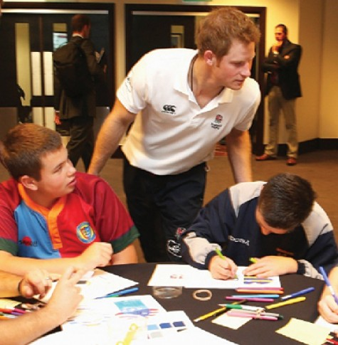 Prince Harry at Twickenham